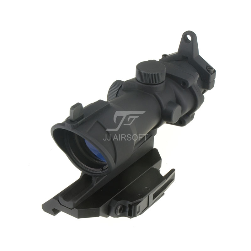 JJ Airsoft ACOG Style 4x32 Scope , AC12033 Bobro Style Quick Release / QD Mount (Black)