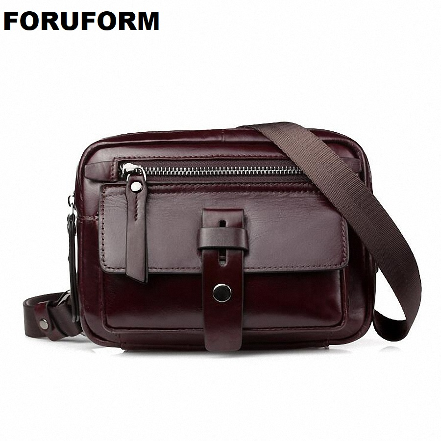 Genuine Leather Men Bag Fashion Leather Crossbody Bag Shoulder Men Messenger Bags Small Casual Designer Handbags Man Bag LI-2162 genuine leather men bag fashion messenger bags shoulder business men s briefcase casual crossbody handbags man waist bag li 1423