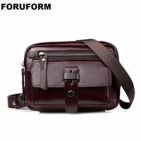 Genuine Leather Men Bag Fashion Leather Crossbody Bag Shoulder Men Messenger Bags Small Casual Designer Handbags Man Bag LI 2162
