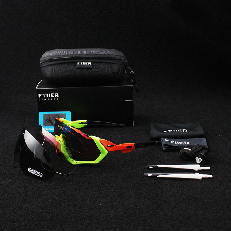 2018 BRAND NEW TR90 Frame Polarized UV400 Lens Cycling woman Sunglasses Glasses man Bike Bicycle GLasses 3 Lens Tour de France