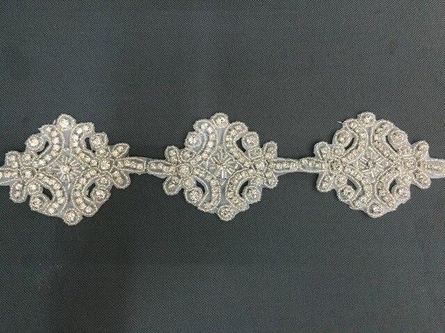 Metri di modo rhinestone di cristallo applique in rilievo