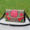 Chinese Style  Women Handbag Embroidery Fashion Handmade Flowers Ladies Tote Shoulder Bags  Ladies Messenger Bag