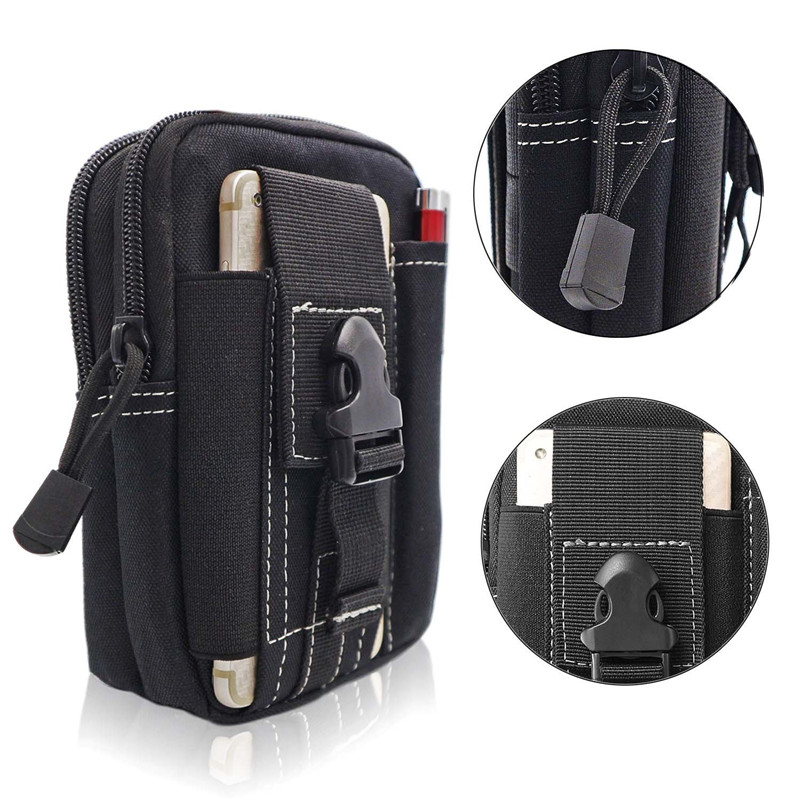 Tactical Molle EDC Pack Compact Accessory Phone Pouch Utility Gadget Admin Gear Waist Bag Devices Divider Organizer Storage