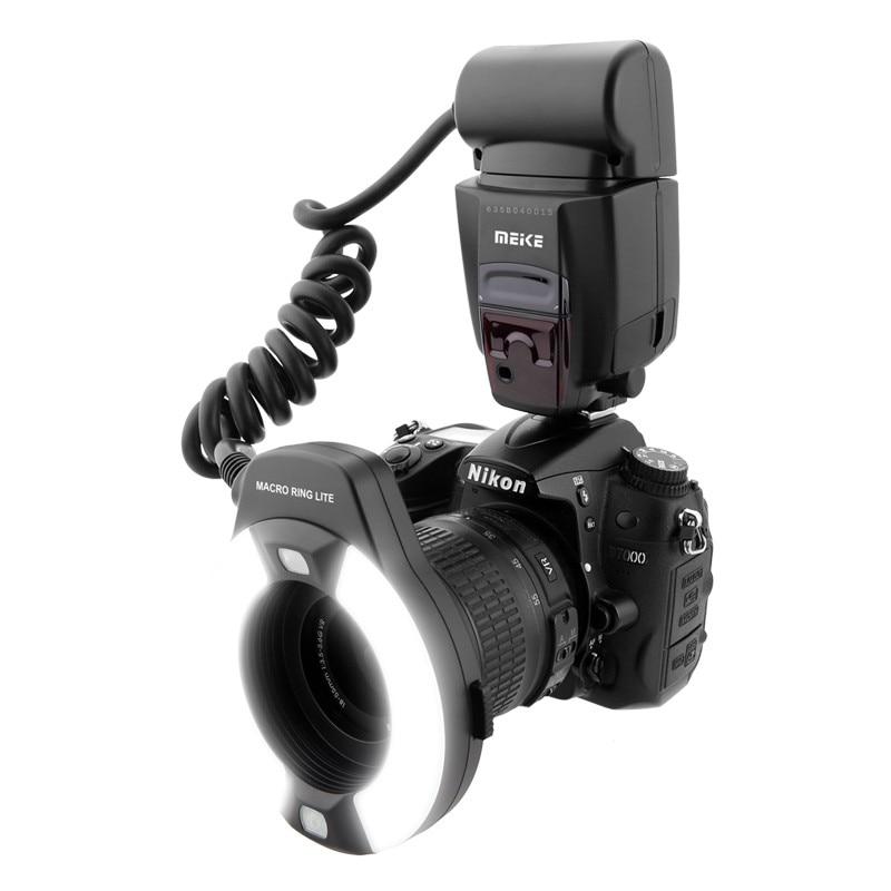 Meike MK-14EXT LED TTL Macro Ring Flash Lite AF I-TTL Assist Lamp For Nikon DSLR Camera Free Shipping 2m i ttl flash off camera cord cable for nikon dslr