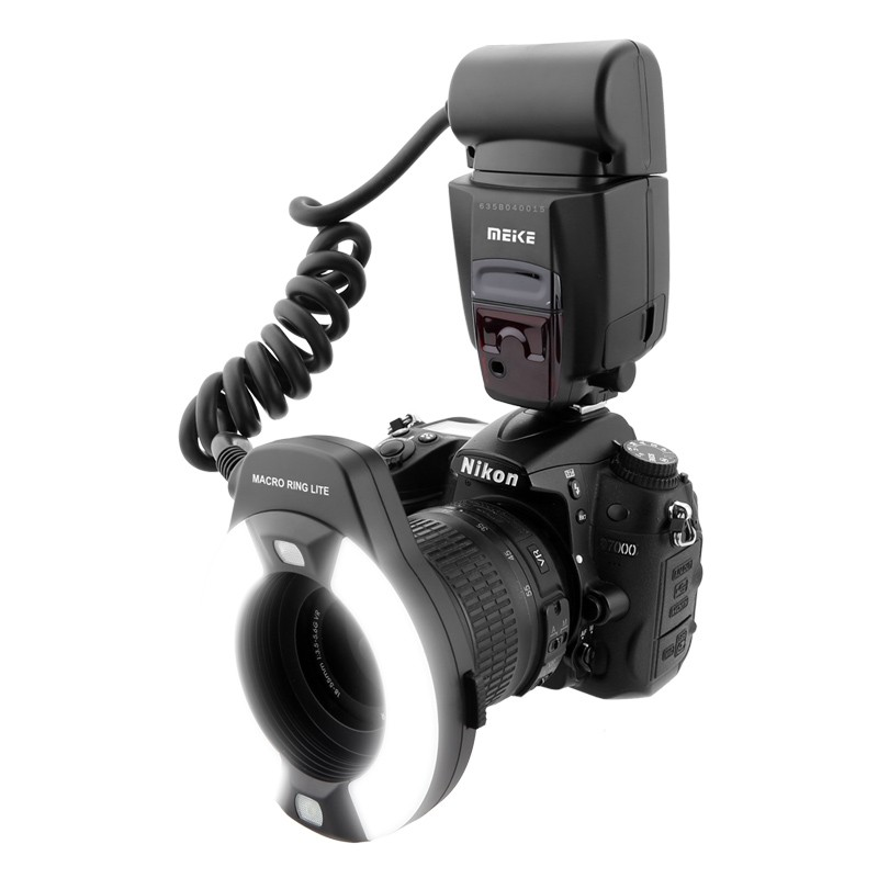 Meike MK-14EXT LED TTL Macro anneau Flash Lite AF I-TTL lampe d'assistance pour Nikon DSLR appareil photo livraison gratuite