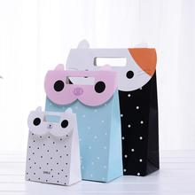20pcs New Style Cute Cartoon Animals Printing Protable Paper Bag Christmas Kid Birthday Party Gift