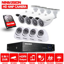 8CH CCTV Surveillance System 4MP 1080P AHD DVR 8PCS CCTV Cameras 4.0 Megapixels Enhanced IR Security Camera System with 2TB HDD