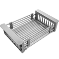 Kitchen Sink drain basket, stainless steel kitchen Strainers, retractable 315-465mm,Kitchen sink accessories