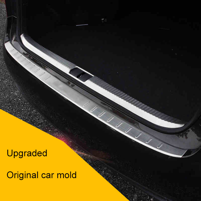 QHCP Stainless Steel Rear Bumper Protector Tail Trunk Pedal Guard Trim For Lexus ES200 250 300H Car Exterior Accessory 2013 2017