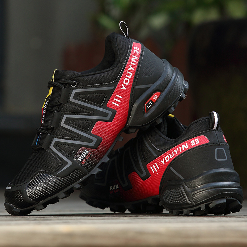 Outdoor Men HIking Shoes Big Size Sneakers Sports Climbing Trekking Shoes Waterproof Mountain Shoes 39-48 Man Breathable Shoes 2016 man women s brand hiking shoes climbing outdoor waterproof river trekking shoes