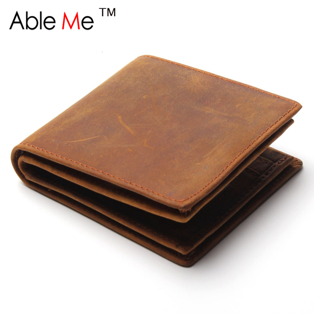 Famous Brand PU Leather Men Wallets Designer Credit Card Holder Purse Vintage Style Holder Short Foldable Travel Carrying Wallet
