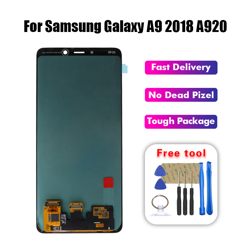 Super AMOLED LCD For Samsung A9 2018 A920 LCD Display Touch Screen Digitizer Assembly For samsung a920 lcd screen