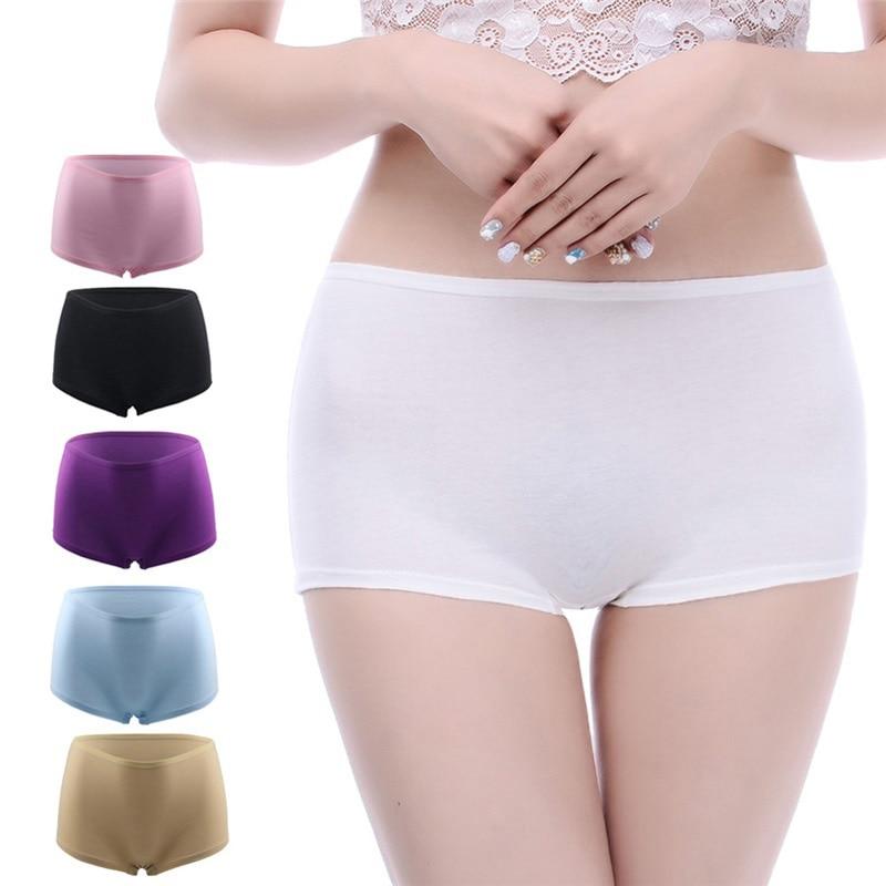 6Pcs/Lot Boxer Women Boyshort Big Size Female Underwear Large Size Cotton   Panties   Girl Underwear Ladies Briefs Plus Size   Panty