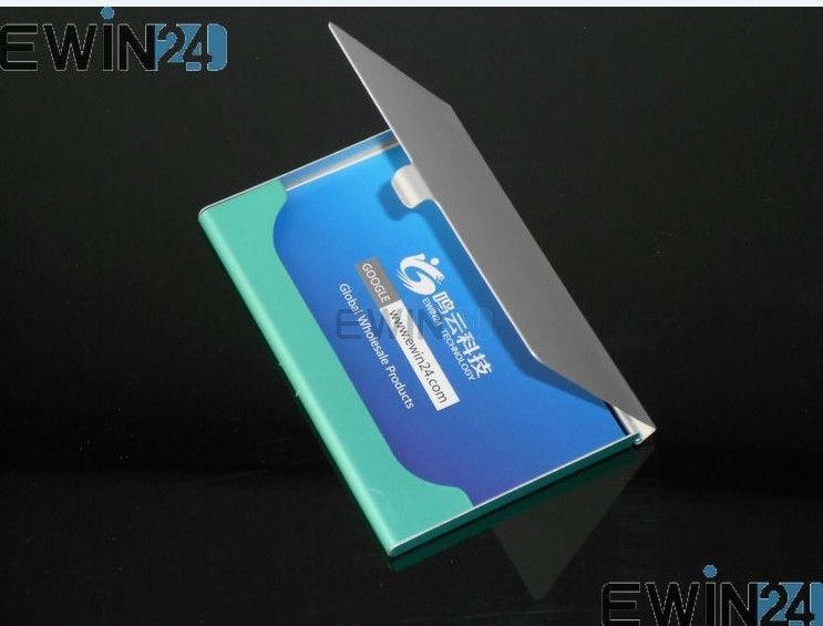 1200 PCSX Neue Aluminium Business Name Kredit ID Karte Fall Halter Einfach zu Tragen Großhandel Freies verschiffen-in Lagerbeutel aus Heim und Garten bei  Gruppe 2