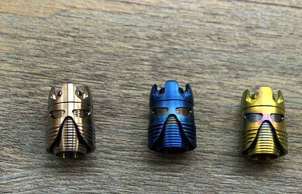 Samurai Helmet Titanium Alloy Knife Beads Paracord Umbrella Rope Outdoor Knife EDC Knife Fall TC4 Pendant Multi Tools tungsten alloy steel woodworking router bit buddha beads ball knife beads tools fresas para cnc freze ucu wooden beads drill
