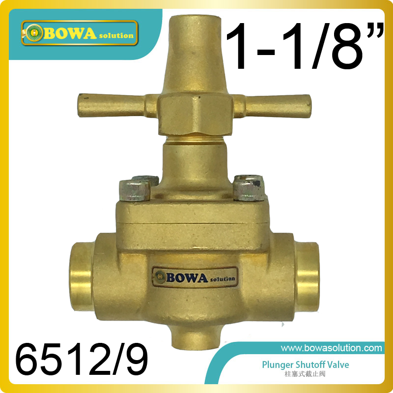1-1/8 piston shutoff Valve can be used for all fluorinated refrigerants, can replace CASTEL global valves in refrigertion units thermo operated water valves can be used in food processing equipments biomass boilers and hydraulic systems