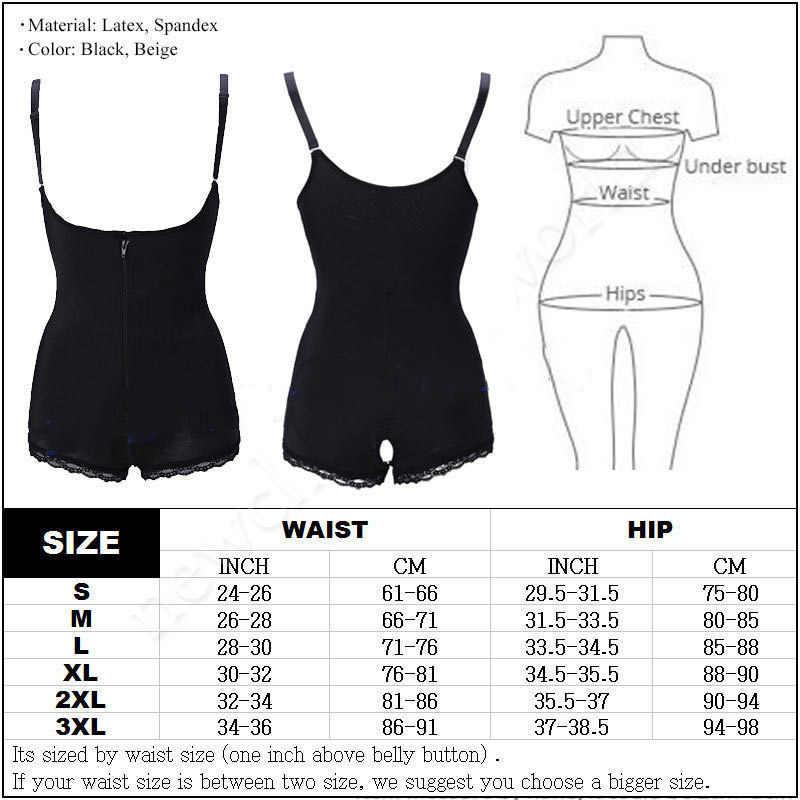 a1d97bbbd2e47 ... Women Best Shapewear Slip Butt Firm Tummy Control Zip Front Open Bust  Latex Bodysuit Full Body ...