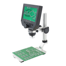 Buy online AOMEKIE 4.3″ LCD Digital Microscope 3.6MP HD Zoom 1-600X with Aluminum Alloy Base 8LED Illumination Rechargeable Lithium Battery