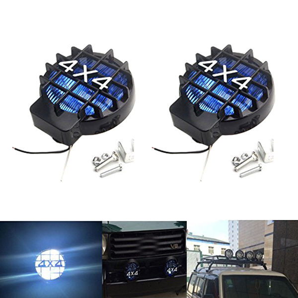 New 12V Car Spotlight Glass Lampshade Off Road Car Spotlight Compatible for Jeep SUV4X4