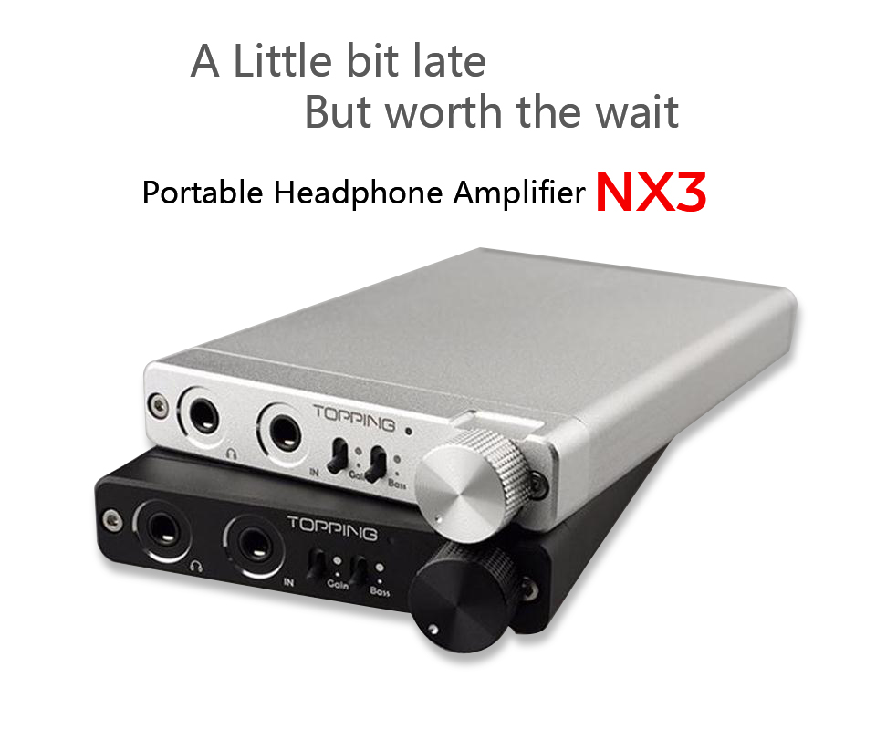 Topping NX3 Portable Hi-Fi Headphone Amplifier Stereo Audio Earphone Amp TPA6120A2 OPA2134 for Phones MP3/MP4 Digital player PC