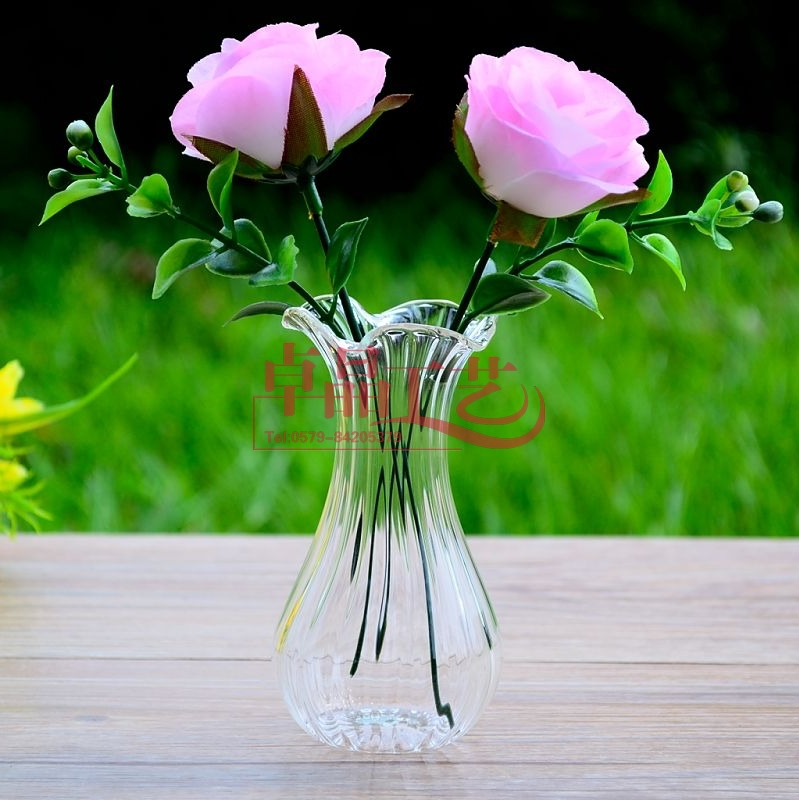 ! Small Clear Glass Flower Vase Home Decoration Wedding decorative vases - Miss Darcy's Fashion Store store