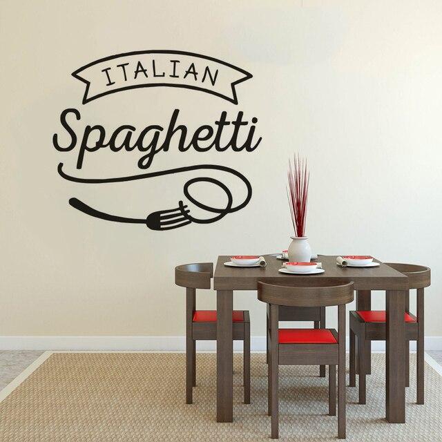 italian cuisine wall sticker spaghetti vinyl wall window decal