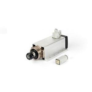 Image 3 - Moteur daxe carré, CNC kw, 220V, 380V, 24000 tr/min, refroidi à lair, ER20, 0.002mm pour fraisage, CNC mm, avec prise et boîte de câbles, Version