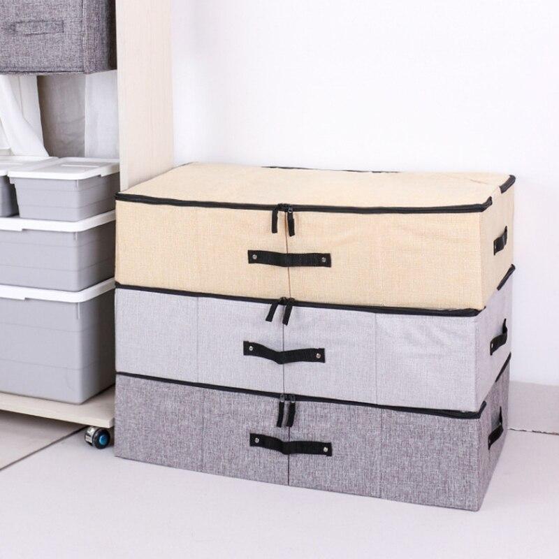New Non Woven Fabric Folding Underwear Storage Box Bedroom: Linen Fabric Non Woven 4 Cells Underwear Storage Box
