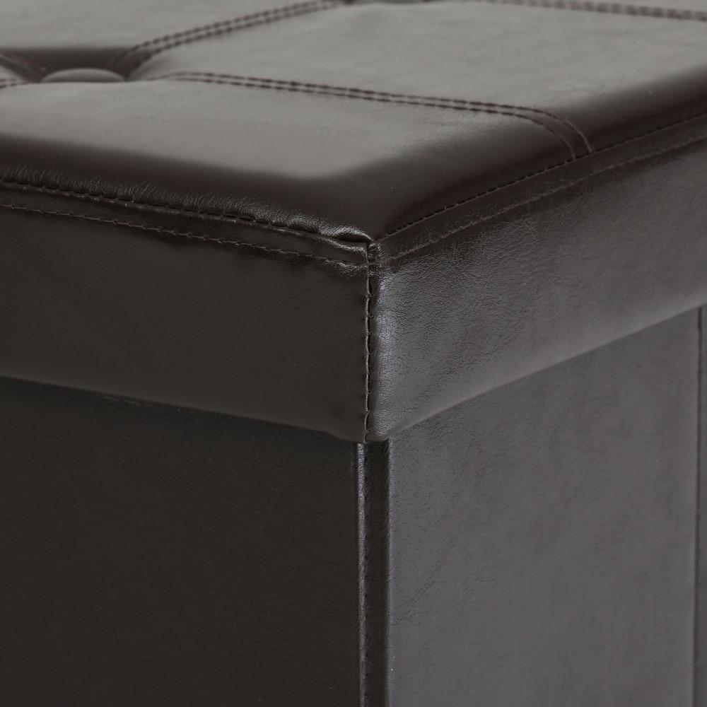 Ikayaa US UK FR almacenamiento plegable Banco otomano sofá grande ...