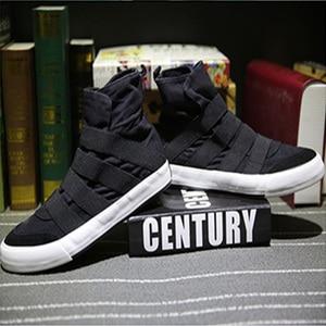Image 1 - Zapatos informales de lona para hombre, zapatillas masculinas de lona, transpirables, altas, de tela vaquera suave, Slipon, para verano y otoño, 2018
