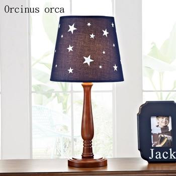 Американская креативная детская настольная лампа со звездами для мальчиков, прикроватная лампа для спальни с мультяшным персонажем, свето...