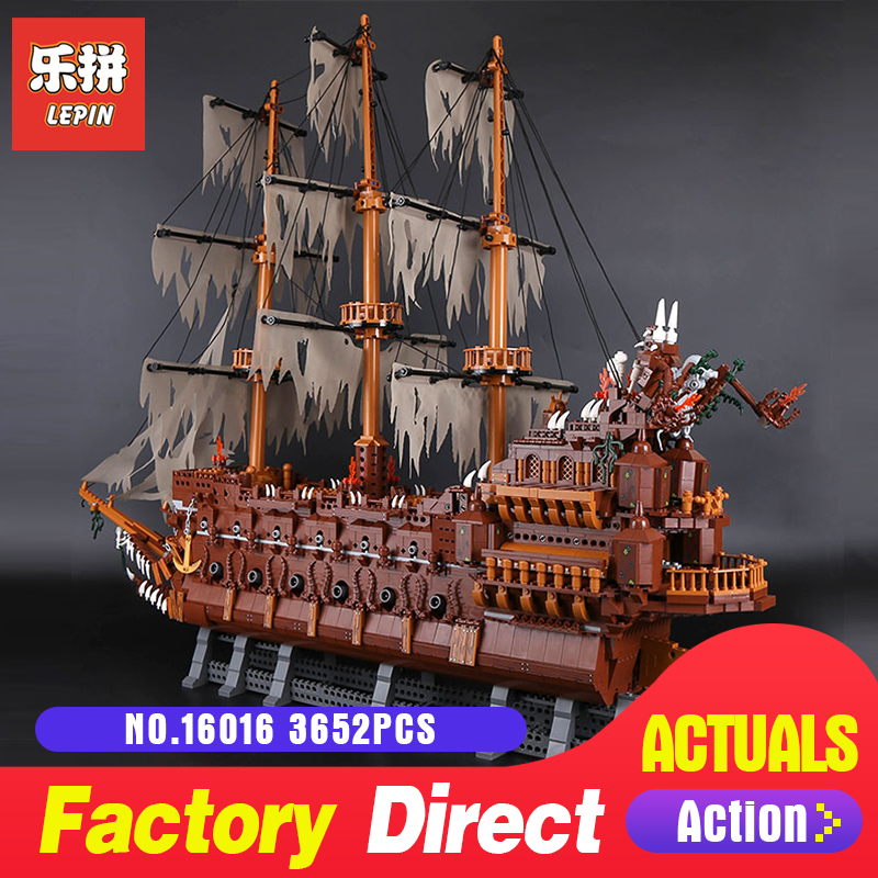 Lepin 16016 3652Pcs Movie Series MOC Flying the Netherlands Building Blocks Bricks Education toy Model to Children Holiday Toys lepin 16016 3652pcs movie series flying the dutch blocks bricks toys for children compatible legoing pirates caribbean