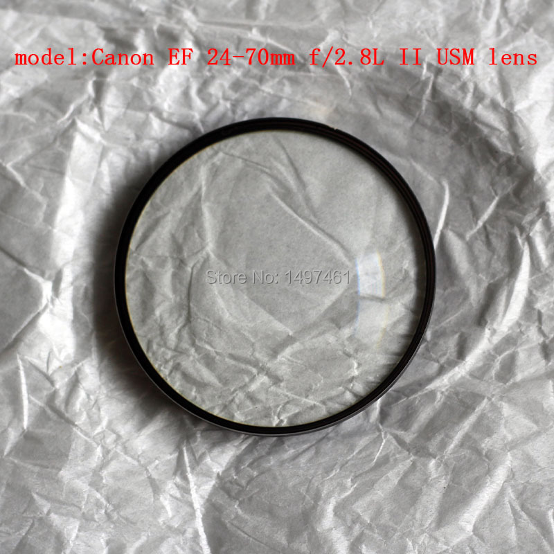 New Front 1st Optical lens block glass group Repair parts For Canon EF 24-70mm f/2.8L II USM lensNew Front 1st Optical lens block glass group Repair parts For Canon EF 24-70mm f/2.8L II USM lens