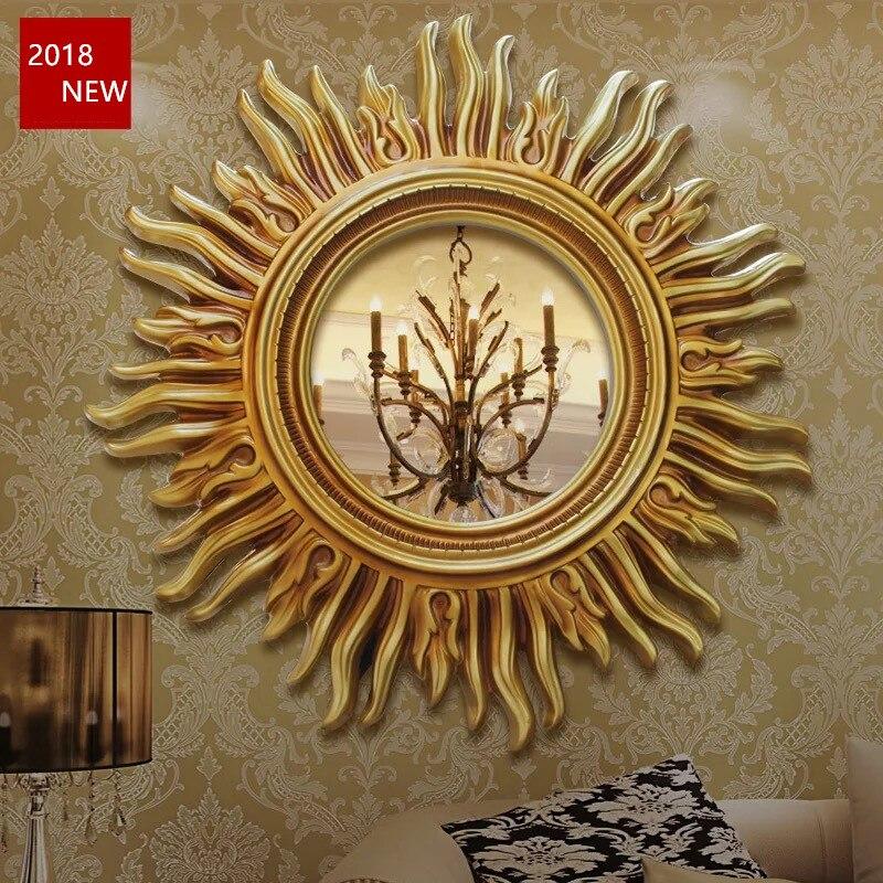 € 202.56 |Résine soleil miroir décor mural décoration de la maison fond TV  salon chambre décors dans Statues et Sculptures de Maison & Jardin sur ...