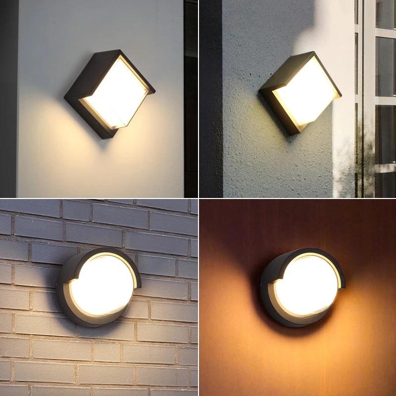 Ledakan Model Lampu Dinding Led Ip65 Outdoor Tahan Air Lampu Taman Acrylic Square Round Rumah Dekorasi Pencahayaan Led Lampu Dinding Dalam Ruangan Aliexpress