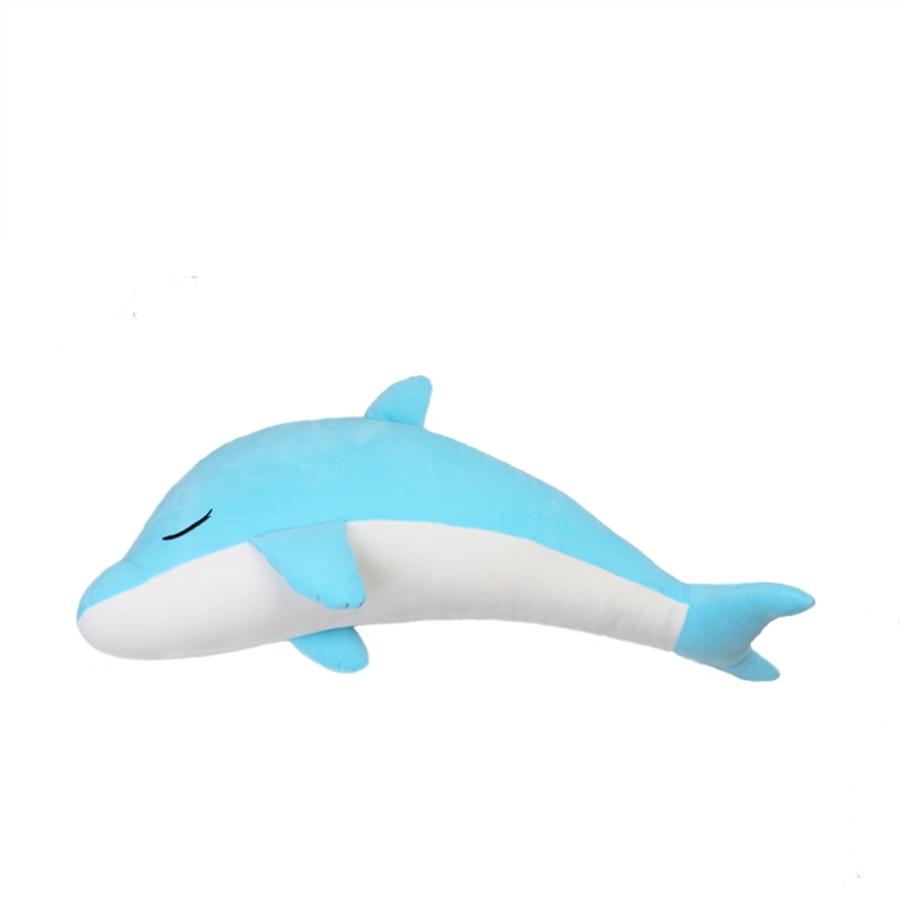 Giant Dolphin Plush Stuffed Toys For Children Kawaii Soft Pelucias Unicornio Stitch Dolls Melody Christmas Gifts For Kid 50D1042 stuffed toys for children dolls giraffe plush nano doll christmas gudetama emoji unicorn fun soft plush 80a0583