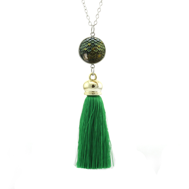 2017 New Style Game of Thrones Dragon Egg Tassel Necklace Jewelry