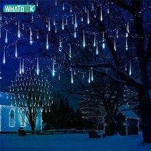 50 سنتيمتر النيزك دش المطر أنابيب أضواء النيزك led 8 أنابيب مقاوم للماء Led ضوء عيد الميلاد إكليل إزالة الأعشاب الضارة سلسلة ضوء عيد الميلاد في الهواء الطلق