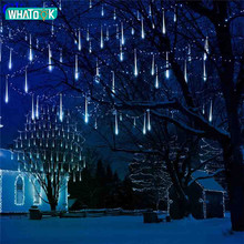 50CM de lluvia de meteoros tubos luces de meteoros Led 8 tubos Led impermeable Led Luz de Navidad Garland boda tira de luces de Navidad al aire libre