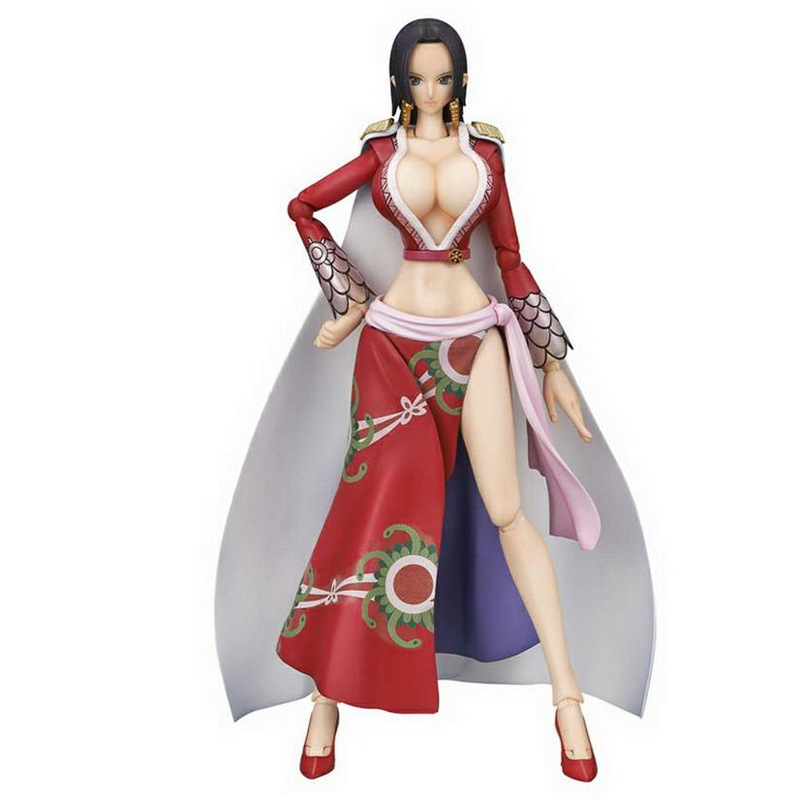 Anime One Piece 18cm BJD BOA HANCOCK Joints Moveable Action Figure Collection Model Toys
