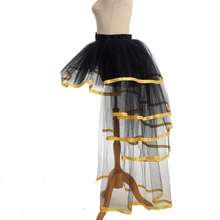 afc46f1c4 BLESSUME Women Mesh Tulle Bustle Steampunk Victorian Party Tutu Ruffle  Tiered Skirts