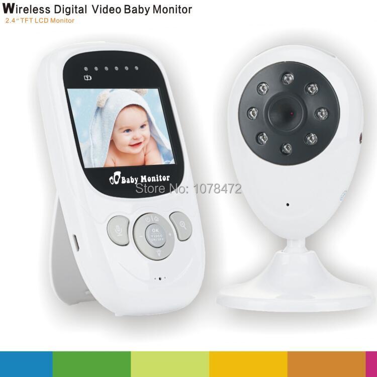 2.4 GHZ sans fil bébé moniteur 2 voies parler 2.4 ''lcd numérique bébé caméra 24 h Babysitter Audio IR température Portable moniteur Walkie