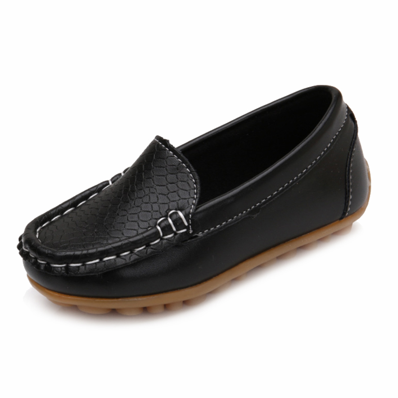 New Children Shoes Classic Fashion PU Shoes for Girls Boys Shoes Flat Casual Kids Shoes(Black,YELLOW)