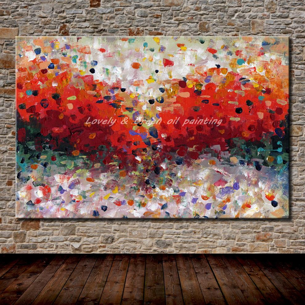 Pop Art Hand Painted Colorful Abstract Oil Painting On Canvas Modern Wall Art For Living Room Hotel Decoration Gift No Framed-in Painting u0026 Calligraphy from ... & Pop Art Hand Painted Colorful Abstract Oil Painting On Canvas Modern ...