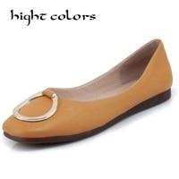 New Arrival PU Leather Flat Women Ballet Flats Shoes Women Plus Size 41 42 43 White