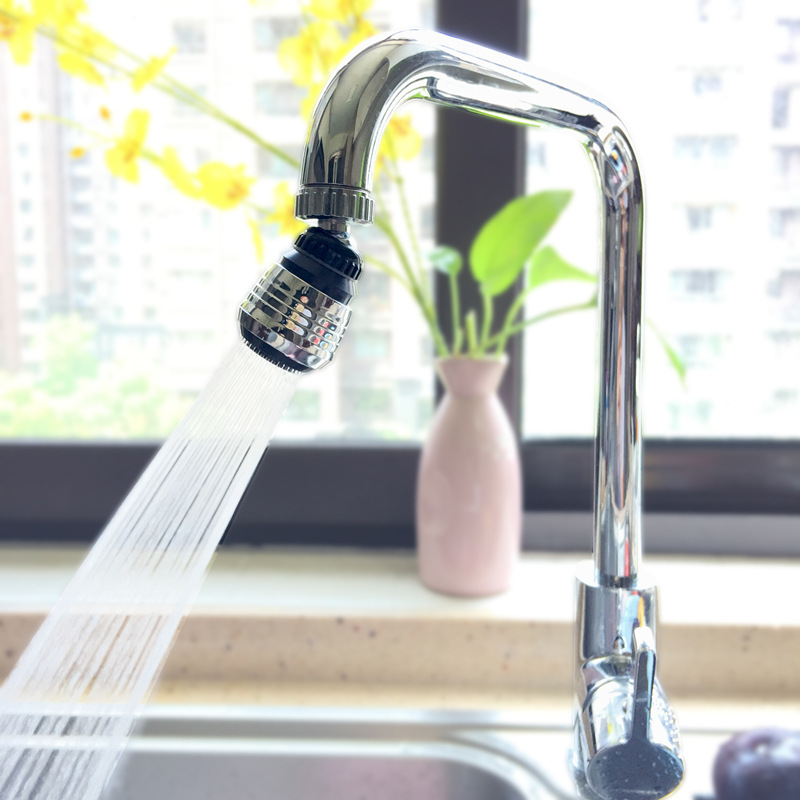 Bathroom Gadget Stainles Steel 360 Rotary Water Saving Faucet Hose Diffuser Filter Water Faucet Bubbler Water Saving Extend Tap