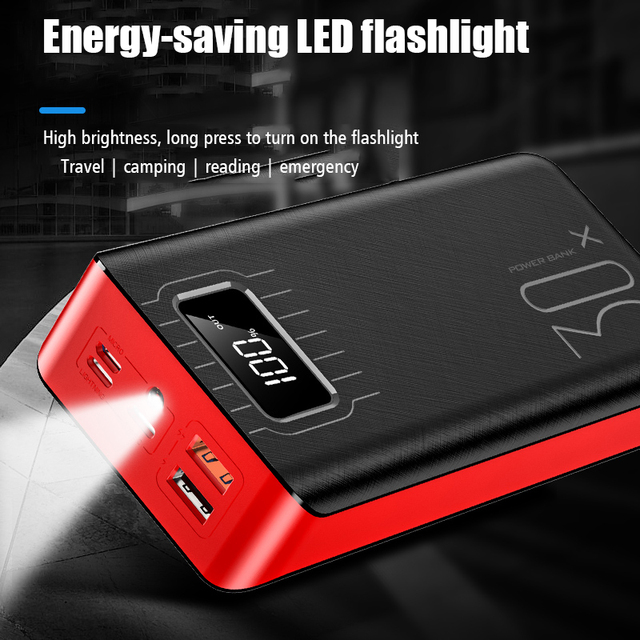 Power bank 50000mAh 2 USB LED External Battery Phone Charger PoverBank Quick portable charging Power Bank charger for xiaomi 2