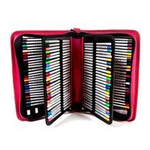 Хорошее (Случайно отправить 5 ручек) профессиональная живопись случае 160 Портативный Кожа Большой Ёмкость Сумки для Цветной карандаш, акварель Кисточки