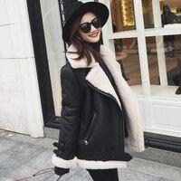 Women Winter Genuine Leather Jacket Female Natural Sheep Fur Jacket Sheepskin Coat Real Leather Jacket With Shearling Trim