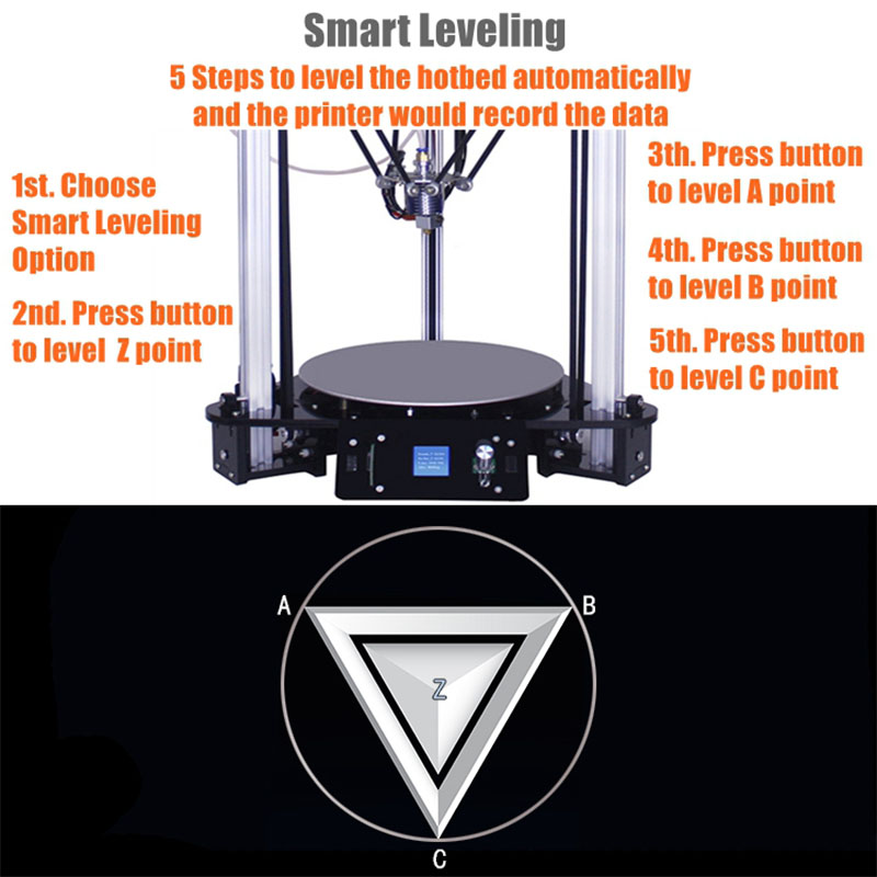 Sinis T1 plus T1 Impresora 3d Cheap Price Laser Engraver Desktop 3d Printer Kit High Speed Best Quality DIY Delta Stampante 3D in 3D Printers from Computer Office